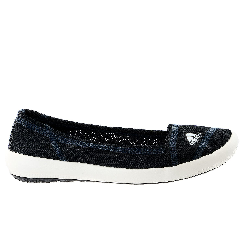 cf2a935af3cbcf Adidas Boat Slip On Sleek Ballet Flat Slip-On Sneaker Shoe - Womens ...