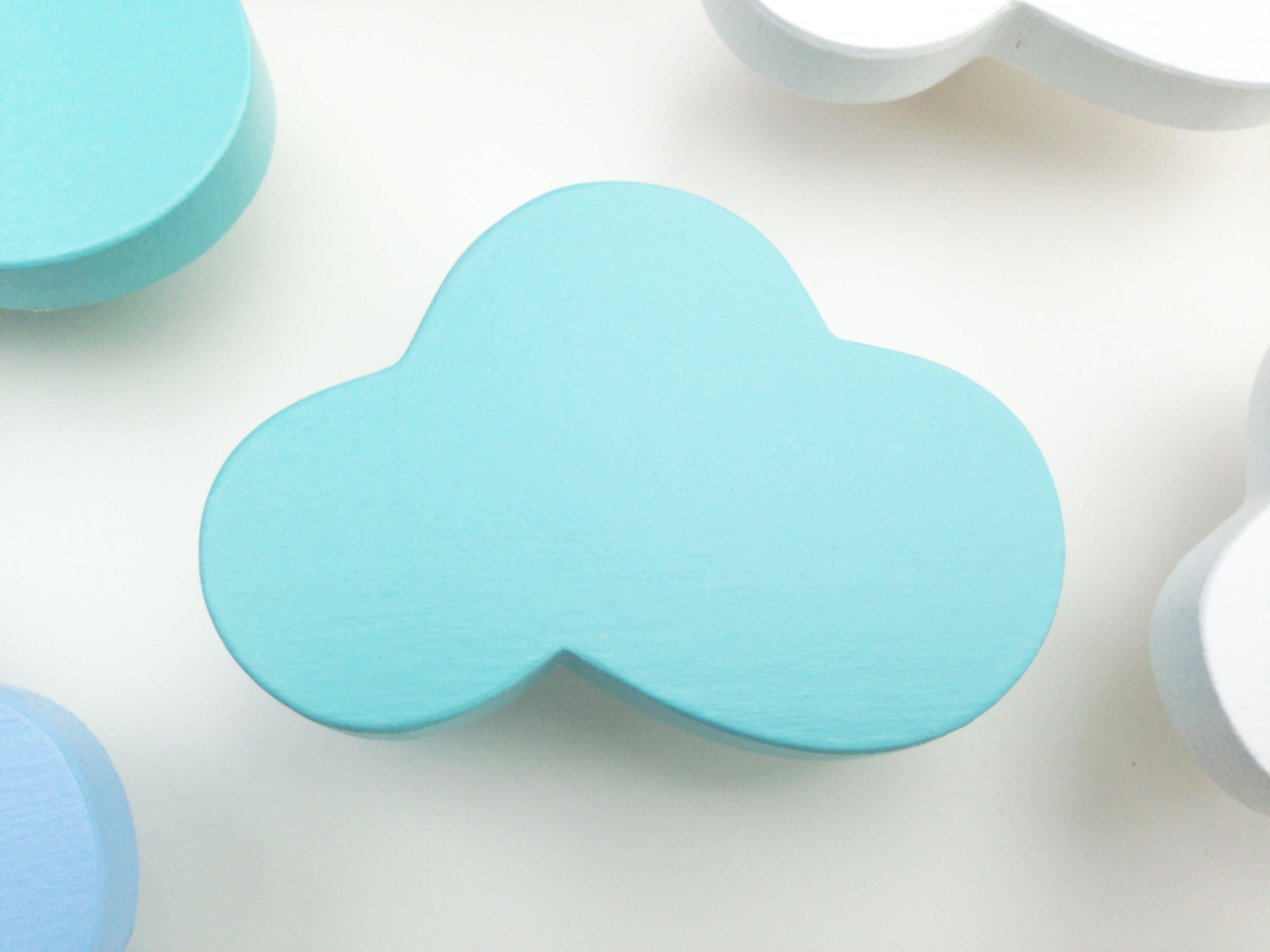 stern hellblau - möbelgriff / möbelknopf für kinderzimmer | elyas