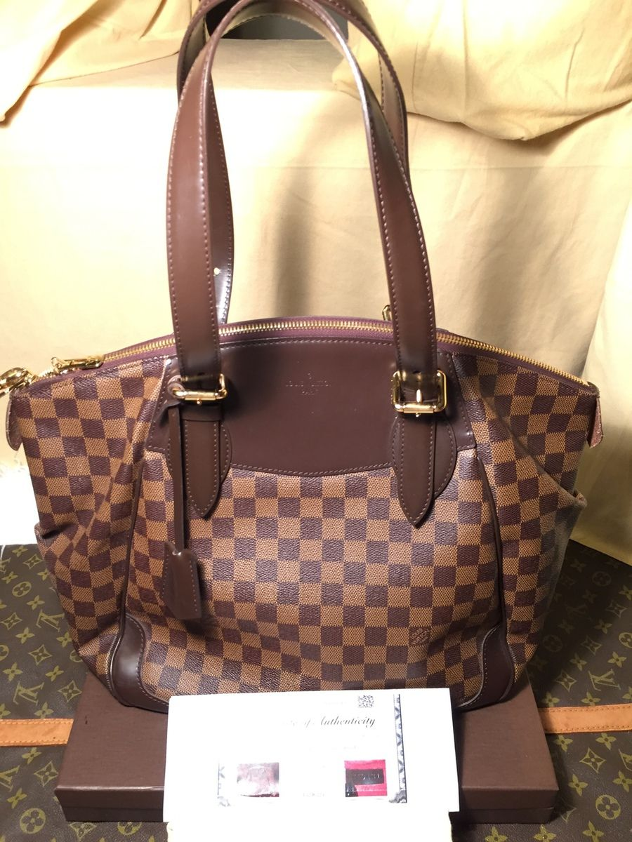 4975b8e3bdf5 Authentic Louis Vuitton Damier Ebene Verona GM Bag VI0131 - The Luxe  Boutique