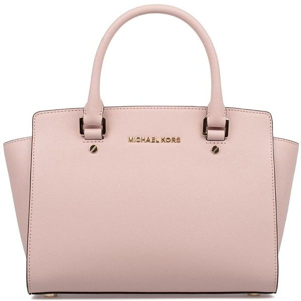 Michael Kors Totes ( 335) ❤ liked on Polyvore featuring bags, handbags,  tote bags, purses, bolsas, accessories, pink, leather tote bags, leather  purses and ... 24c1c32380