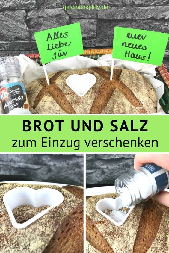 Einweihungsgeschenk Brot und Salz | Geschenke zur