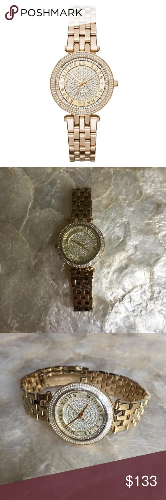 59aa78f08856 Michael Kors Mini Darci Crystal Pave Watch MK3445 100% authentic Michael  Kors Mini Darci Crystal Pave Ladies Watch MK3445. Crystal set bezel and dial .