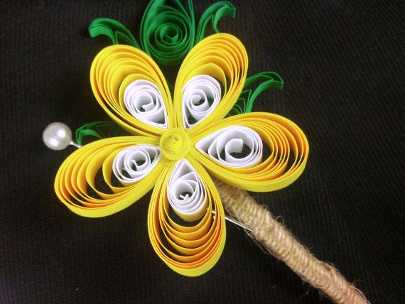 Mens Wedding Boutonniere Paper Flower by ...