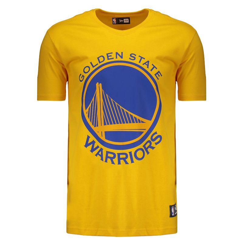 Camiseta New Era NBA Golden State Warriors Amarela Somente na FutFanatics  você compra agora Camiseta New 8b4984da10b