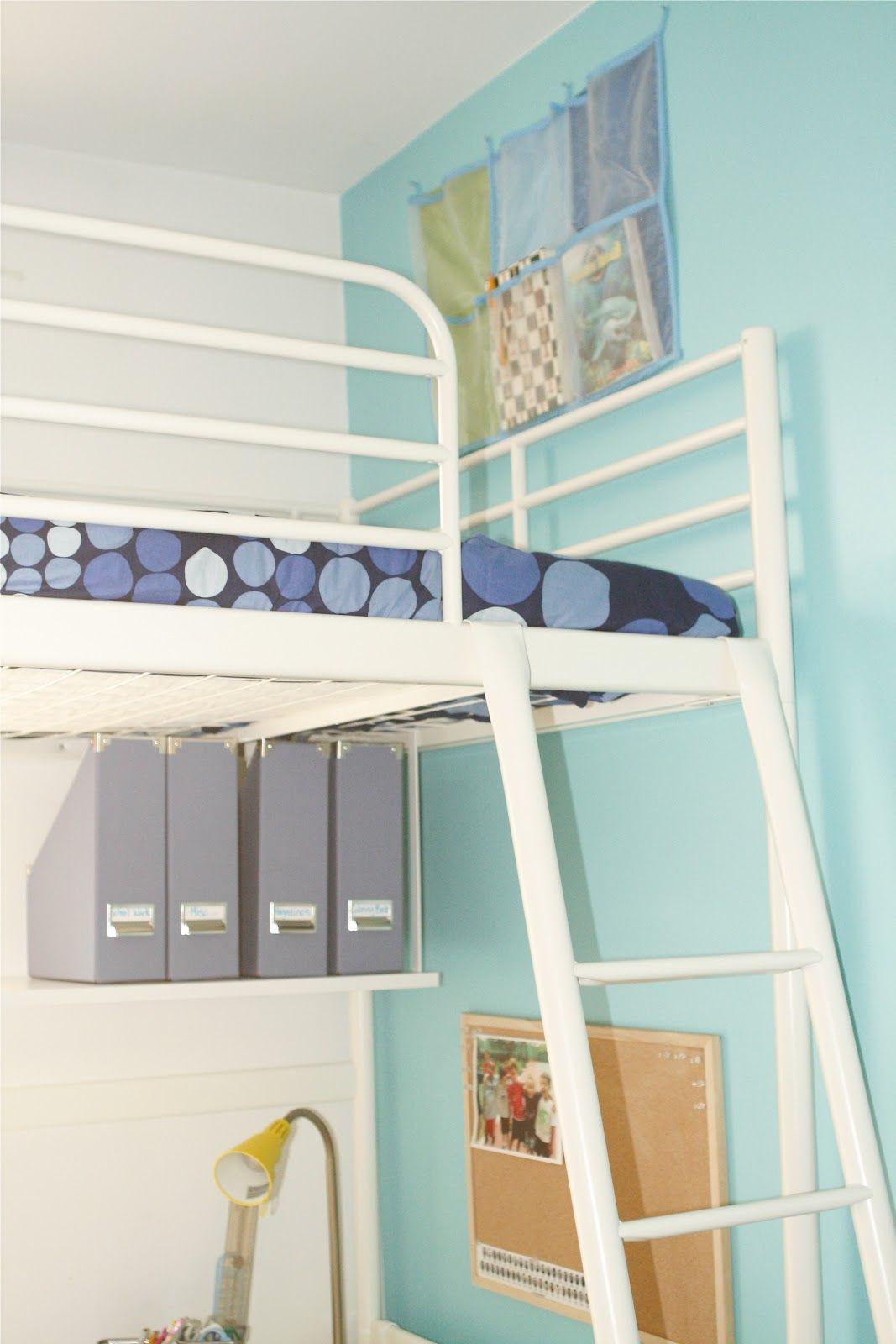 Loft bed with desk blue  Cute tween boys room  Annikaus Room  Pinterest  Tween Room and