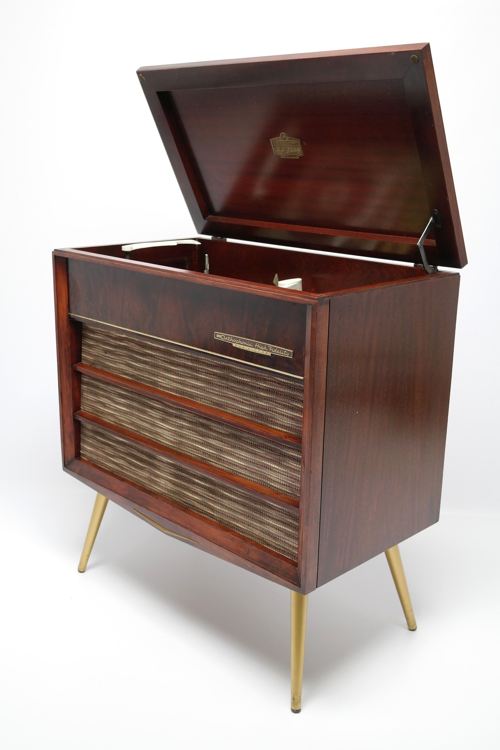 Record Player Console Cabinet