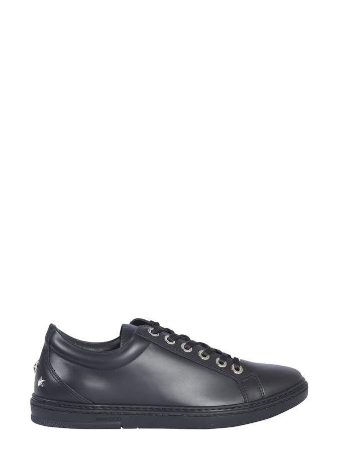 51e3b3301e398 Jimmy Choo Cash Sneakers Calf Leather, Black Leather, Men Dress, Dress Shoes ,