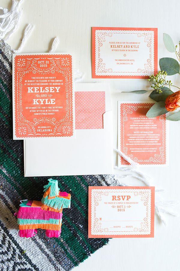 Colorful Fiesta Wedding   Colorful wedding invitations, Fair ...