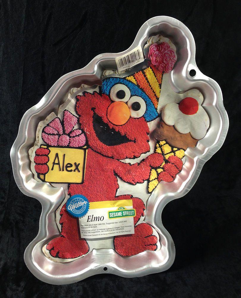 Wilton Elmo Birthday Cake Pan Sesame Street 1996 With Paper