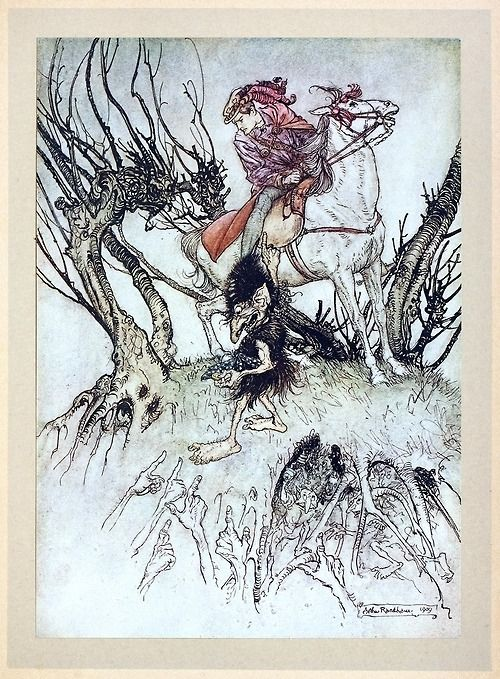 At Length They All Pointed Their Stained Fingers At Me A Rackham From Undine By De La Motte Fouque London 19 Arthur Rackham Illustration Fairytale Art