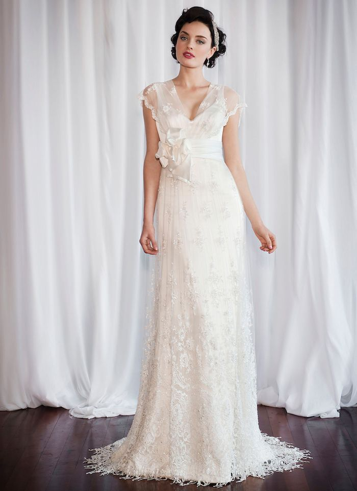 brautkleider mit spitze, hochzeitskleid in retro stil, brautkleid in ...