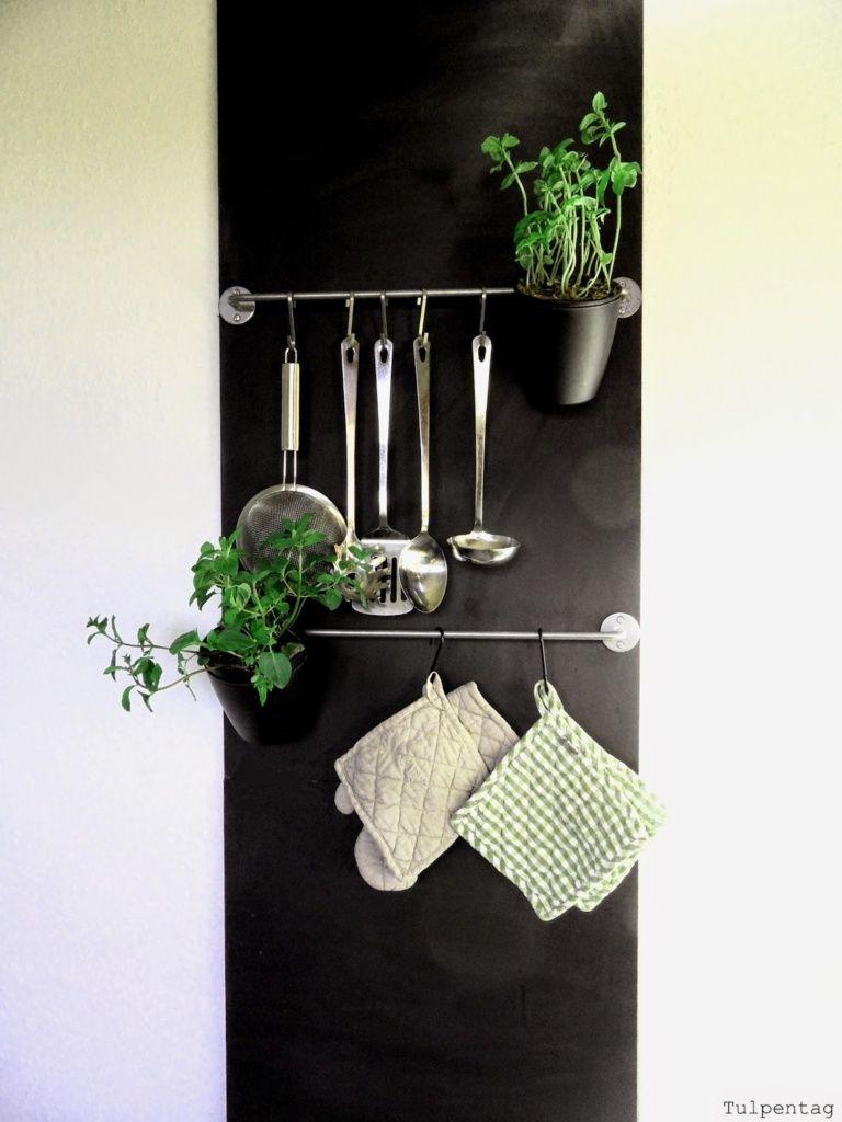 Ordnung in der Küche - Die Tafelwand   DIY   Tafel wand ...