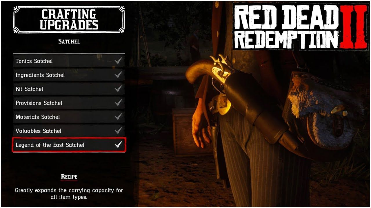 The Ultimate Guide For Crafting All Satchel Upgrades Red Dead