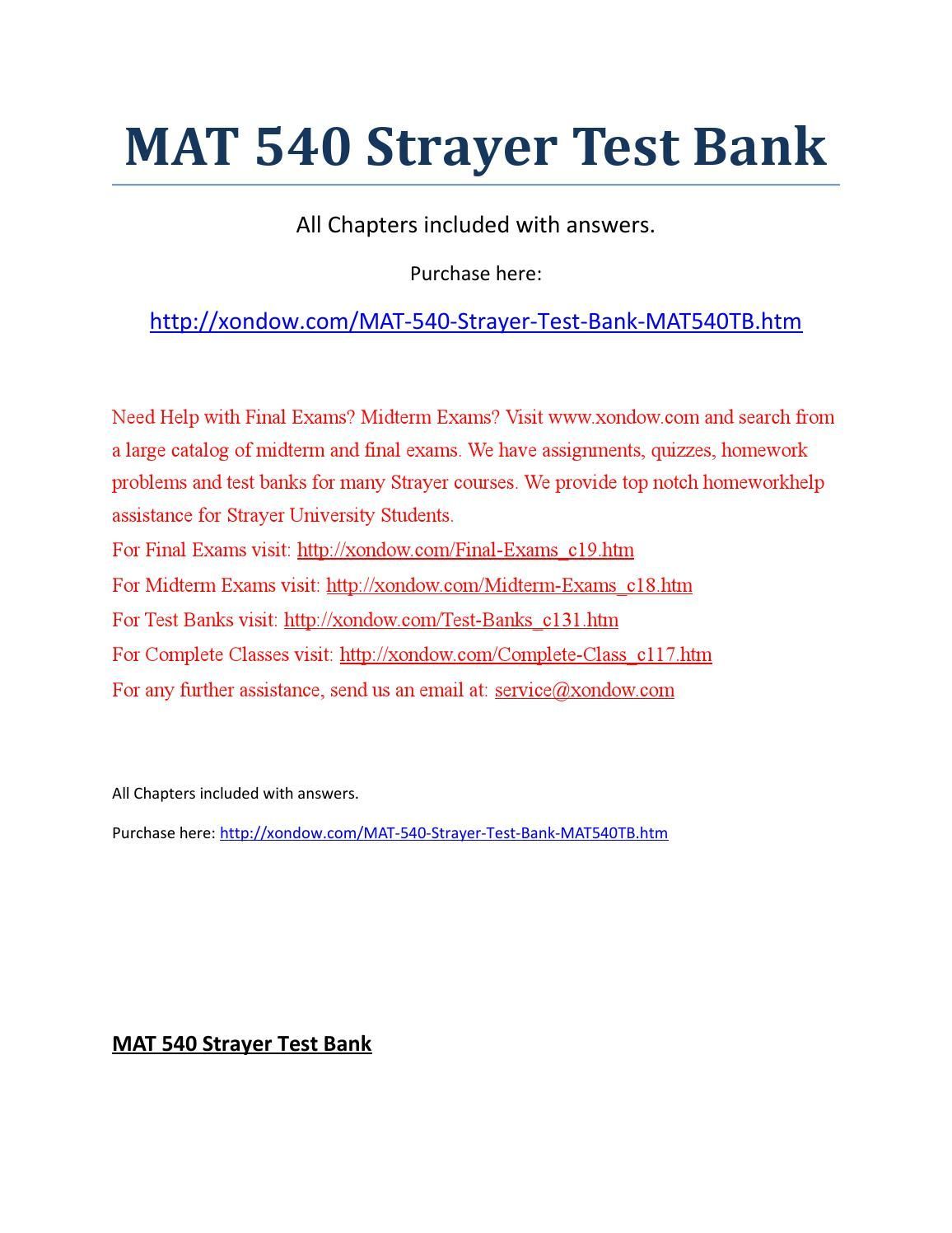 Pin On Mat 540 Strayer All Quizzes Midterm And Final Exams Strayer Latest