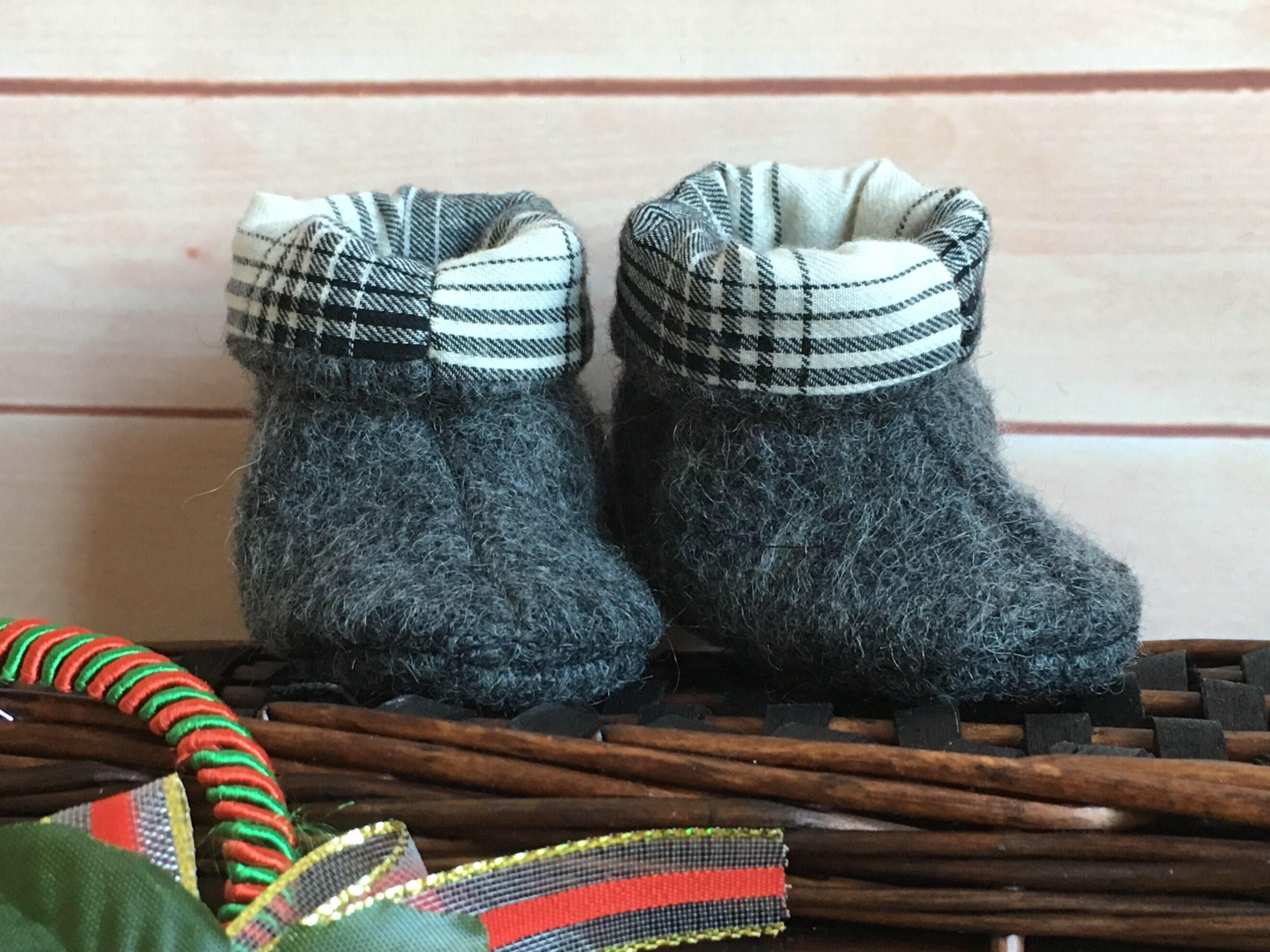 ea0b8d505a296 Baby Newborn Felted booties / Soft booties/Boiled wool Booties /Dark ...