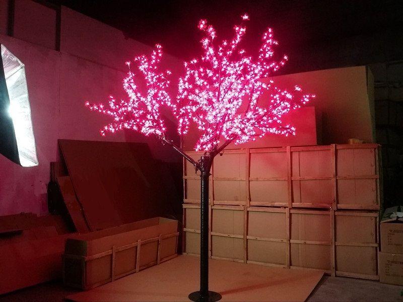 Free Ship Christmas Holiday Wedding Led Cherry Blossom Tree Light 1152pcs Led Bulbs 2m Height Blue Christmas Lights Led Holiday Lights Indoor Christmas Lights