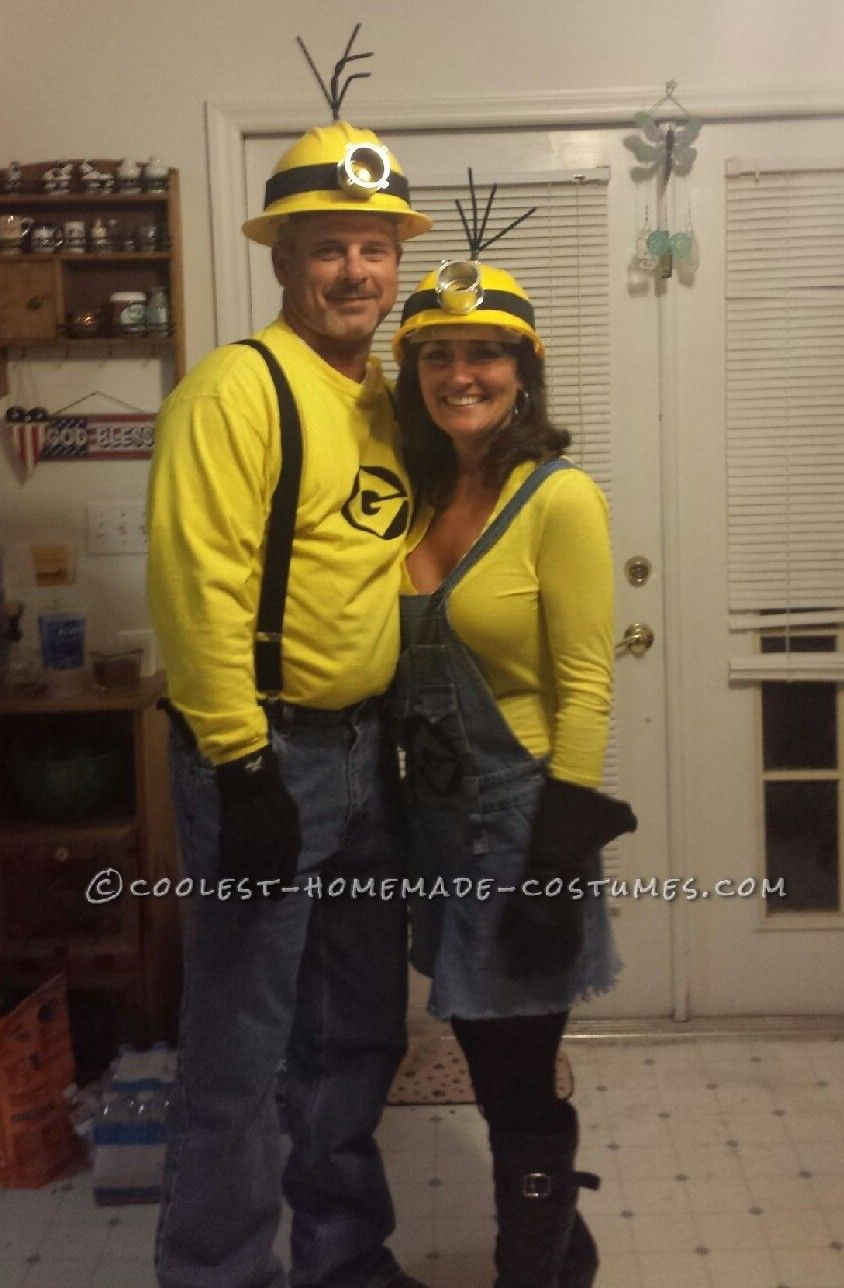 Minions Halloween Costume.Mellow Yellow Adult Minion Couples Costume Coolest Homemade