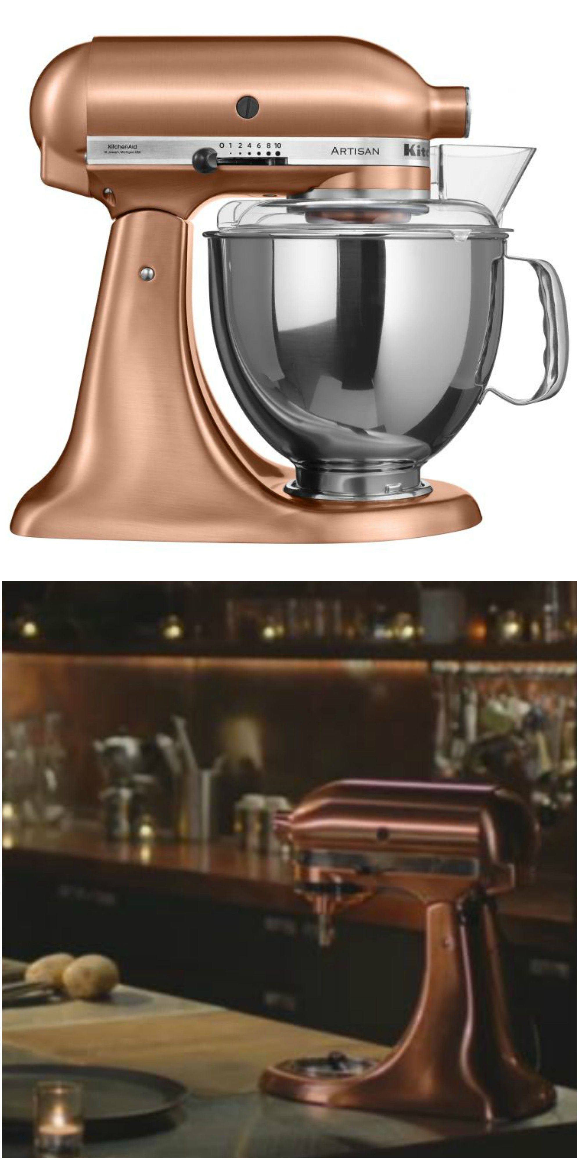 Nigella Lawson's copper stand mixer isn't the only KitchenAid ... on copper disney, copper canisters at walmart, copper keurig, copper flatware,