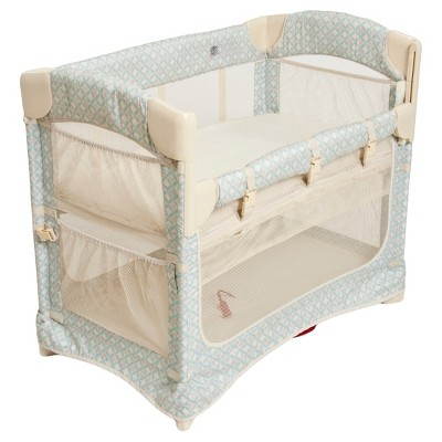 Arm S Reach Mini 2 In 1 Ezee Co Sleeper Bassinet Turquoise Geo