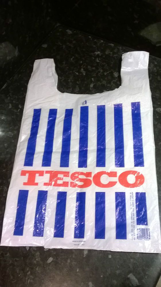 vintage 1980's Tesco carrier bag