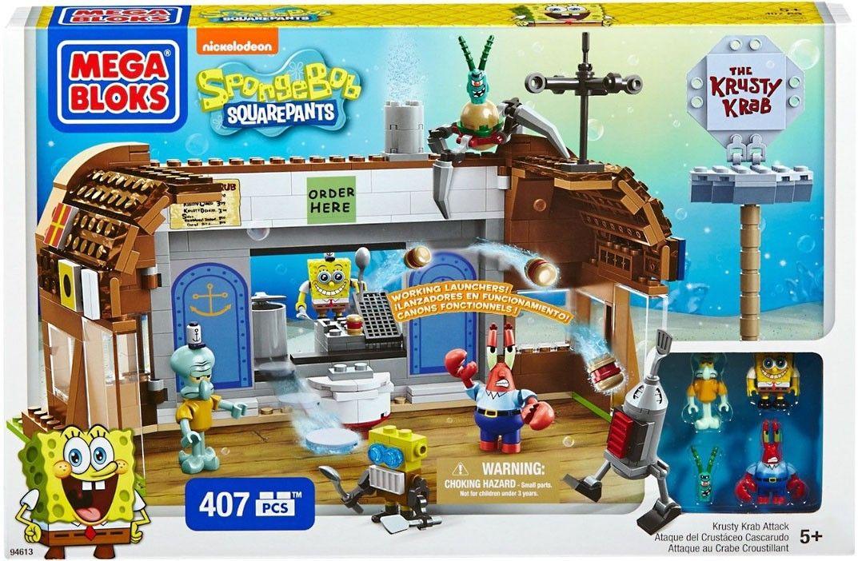 Mega Bloks Spongebob Squarepants Krusty Krab Attack Set 94613 Lego Spongebob Mega Bloks Spongebob