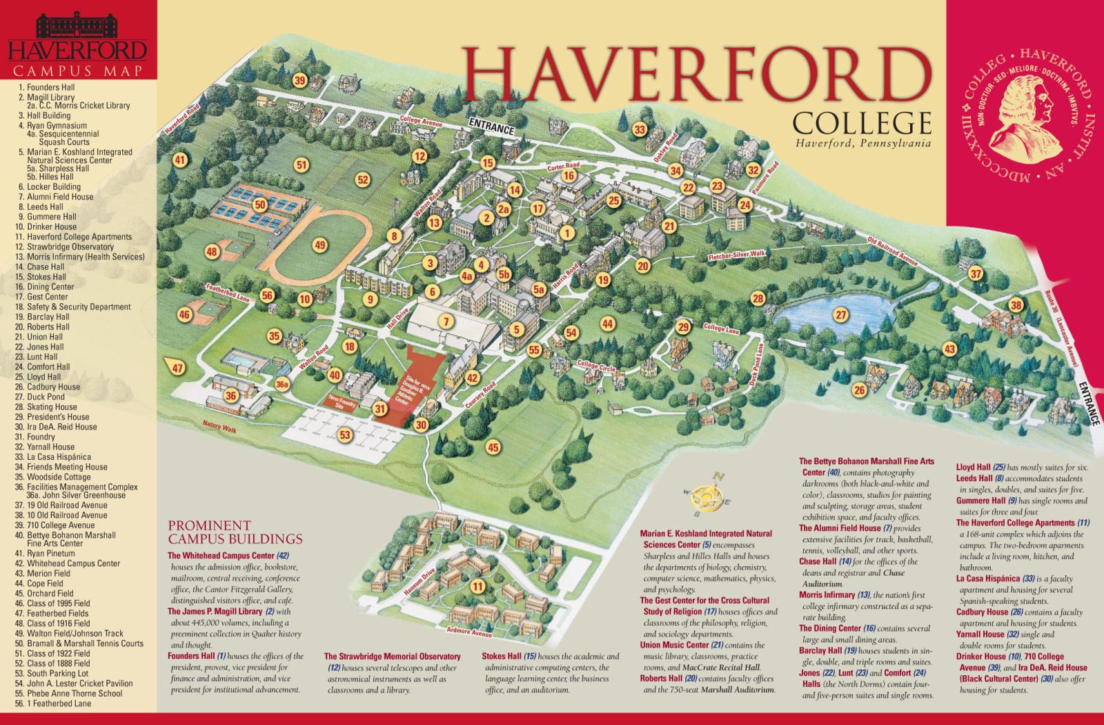 haverford college campus map Haverford Campus Map Campus Map Map Delaware Valley haverford college campus map
