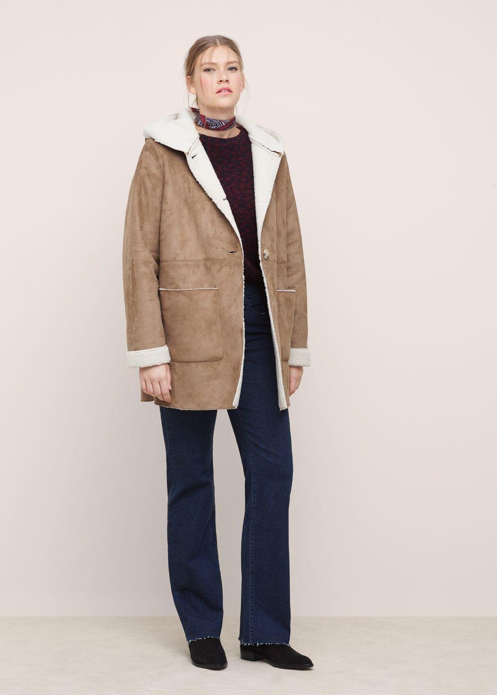 7986a5e0e8 Cappotto aviatore pelliccia di pecora - Taglie grandi | clothing ...