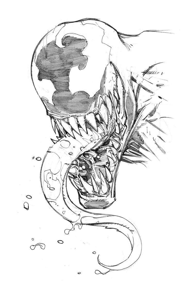 Venom Sketch Marvel Drawings Venom Art Marvel Art