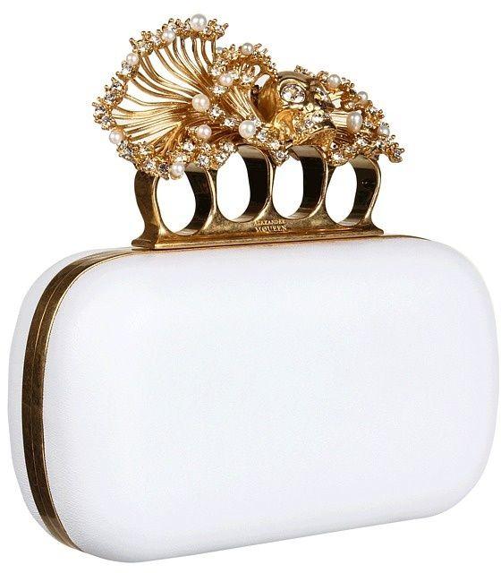 Alexander McQueen clutch.