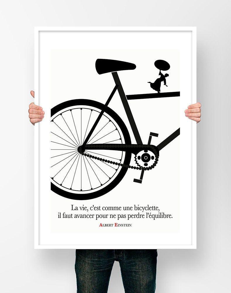 La Vie C Est Comme Une Bicyclette : comme, bicyclette, Affiche, Citation, Albert, Einstein, C'est, Comme, Citations,, Affiche,, Citations