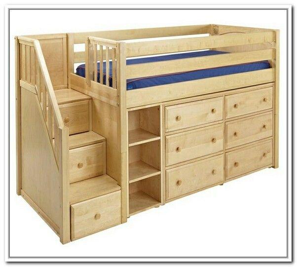 toddler loft bed with drawer steps toby. Black Bedroom Furniture Sets. Home Design Ideas