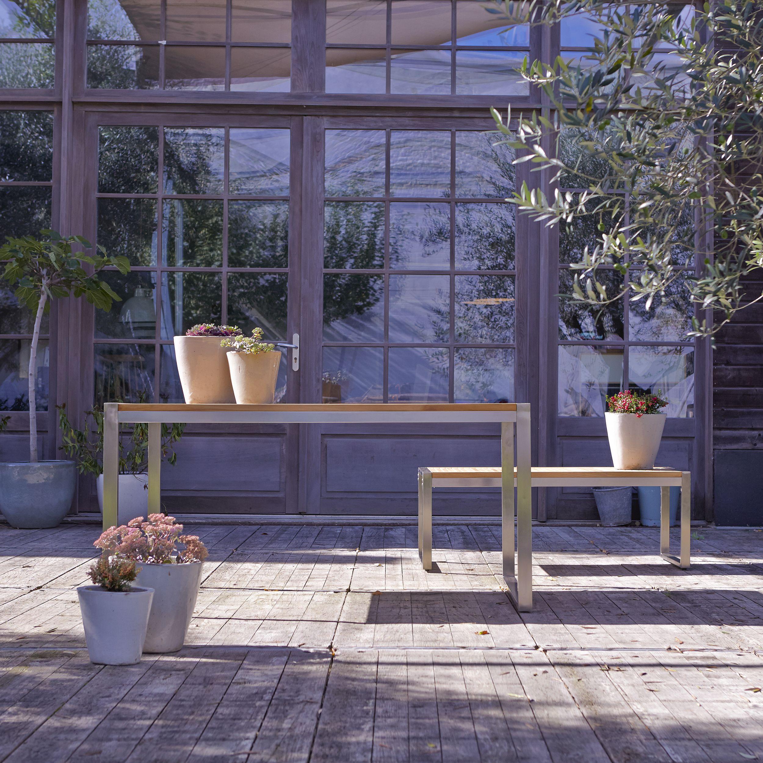 Ensemble de jardin en teck et inox Arno 6 places in 2018 | Les ...