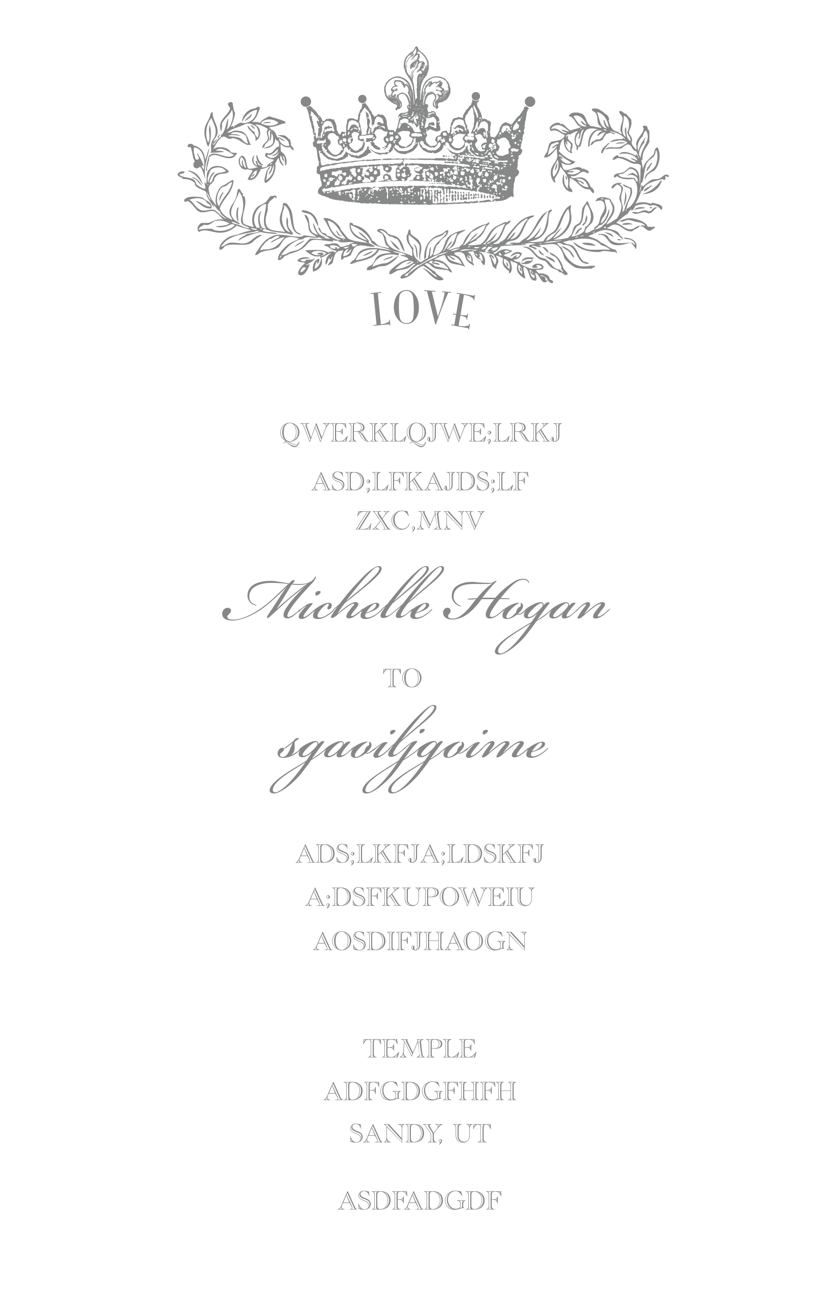 Royal Crown Free Printable Wedding Invitation Suite | Free wedding ...