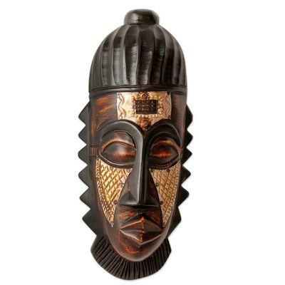 Novica Just Reward Wood Mask Wall Décor