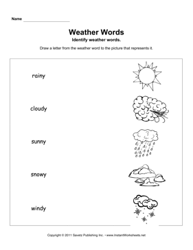 weather words primary school pinterest weather worksheets worksheets and kindergarten photos. Black Bedroom Furniture Sets. Home Design Ideas