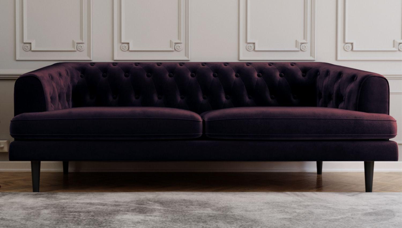 Fine Inez Chesterfield Sofa In Aubergine Dark Purple Seats 3 Unemploymentrelief Wooden Chair Designs For Living Room Unemploymentrelieforg