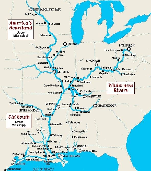 The Mississippi River Is The Chief River Of The Largest Drainage System On The North American