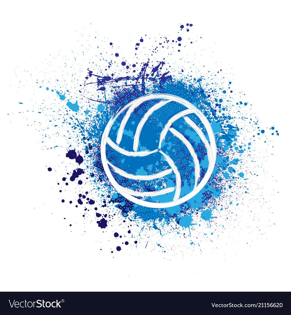 Volleyball Grunge Background Royalty Free Vector Image Sponsored Background Grunge Volleyball Volleyball Wallpaper Volleyball Backgrounds Volleyball