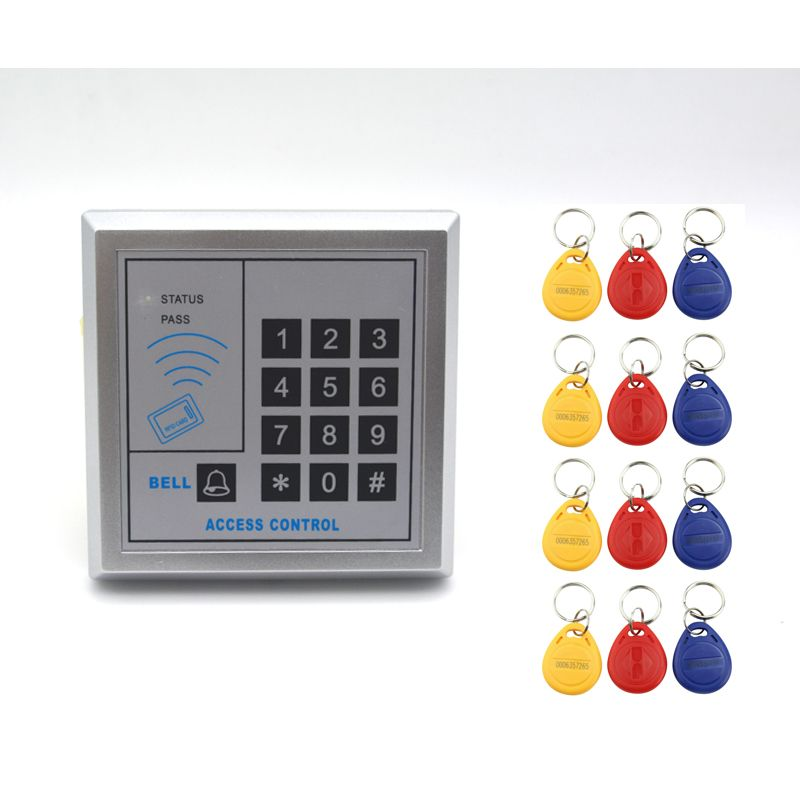 Security Rfid Entry Door Lock Access Control System Numeric Keypad Code And Id Card Unlock With 12pcs Key Access Control Access Control System Entry Door Locks