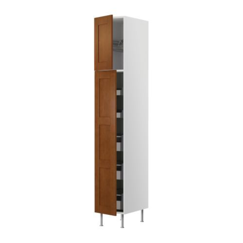 PULL OUT PANTRY AKURUM High cabinet w drawers/wire basket - birch ...