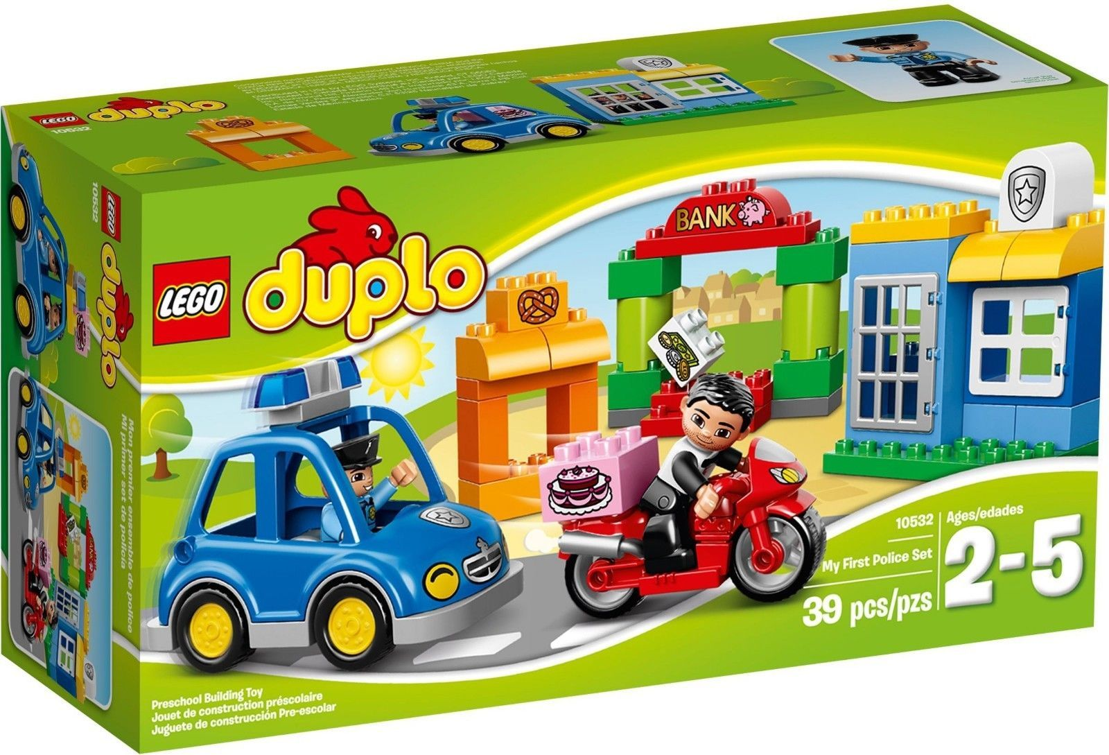 Lego duplo bnib 10532 my first police set toddlers kids play vehcile