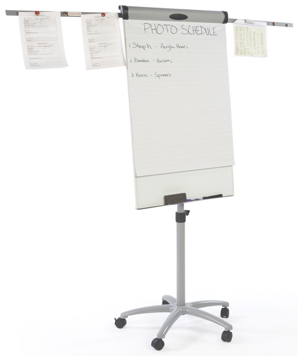 25 5 X 39 Write On Board Floor Stand W Wheels Flip Chart Dry Erase White Flip Chart Dry Erase Surface Space