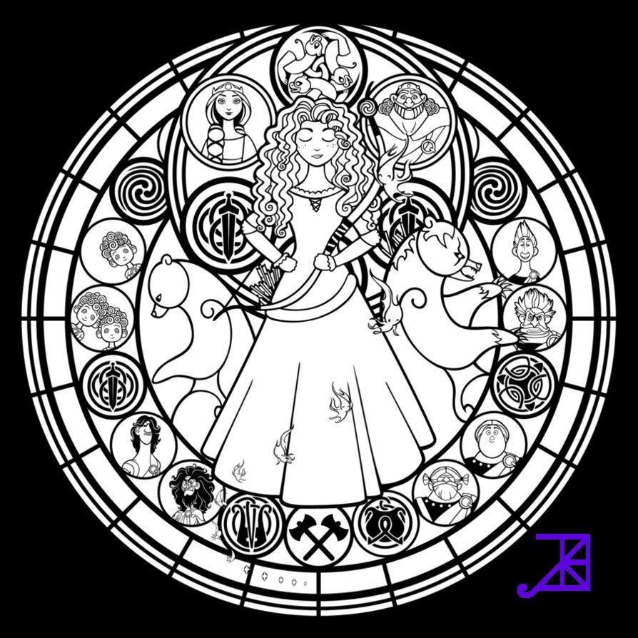 Disney stained glass pattern stained glass pinterest coloring