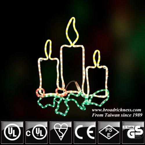 2D Incandescent Rope light Candle,rope light candle,Christmas light