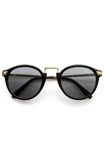 f8a4a354f5428 Vintage Inspired Round Horned Rim P-3 Frame Retro Sunglasses ...