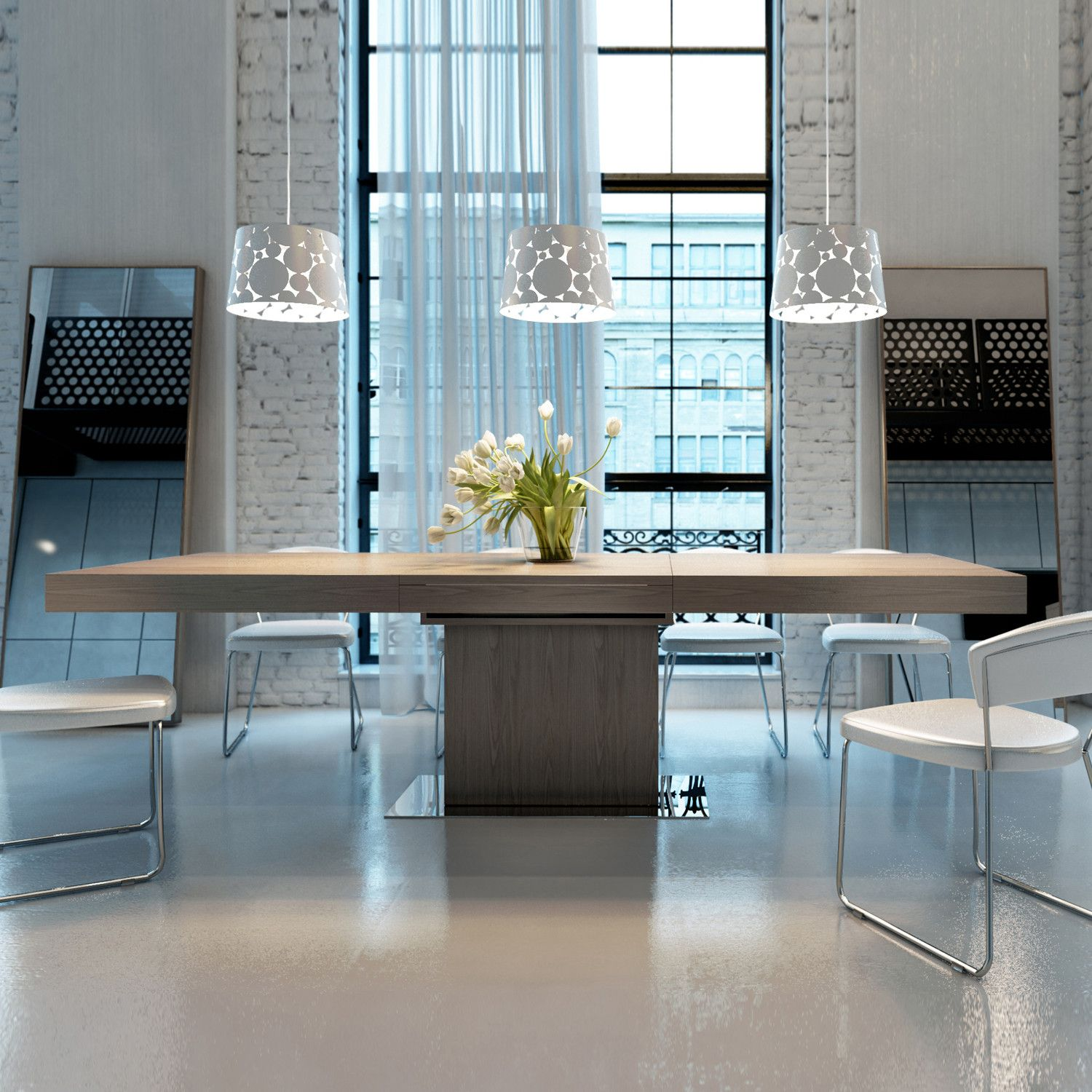 Modloft Astor Extendable Dining Table, Seats Up To 8 People. Available In  White, Wenge And Walnut, Modern Dining