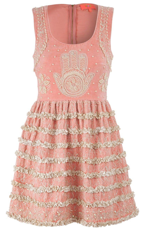 beaded and ruffled rose dress by manoush   Boho chic   Pinterest ...