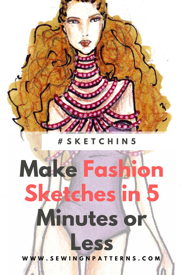 0e19831c2fa80 Learn how to make fashion sketches in 5 minutes. step by step fashion  illustration for beginners. Download your free templates here