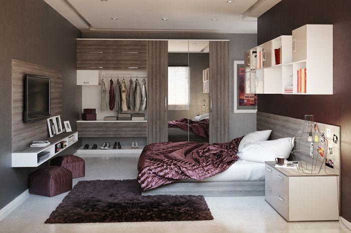 Dormitorios de matrimonio dormitorio con armario grande for Espejos grandes