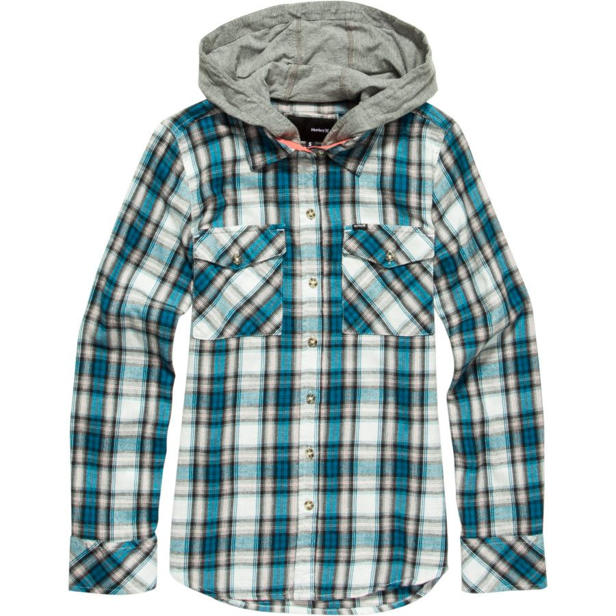 Flannel jackets with hood  Hurley Wilson Hooded Flannel Shirt in size medium  Fashion